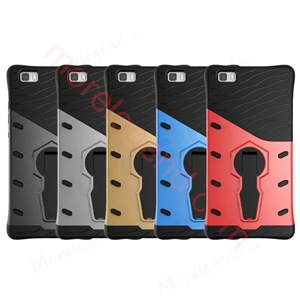 图片 2 In 1 Armor Shell Case With Stand For P8 Lite