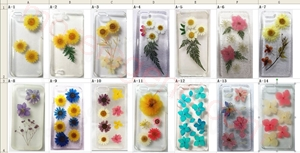 图片 Series Models Elegant Authentic Real Pressed Dry Flower PC/TPU Case